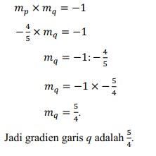 soal persamaan garis lurus no 12