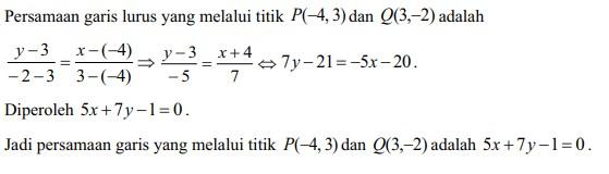 soal persamaan garis lurus no 15