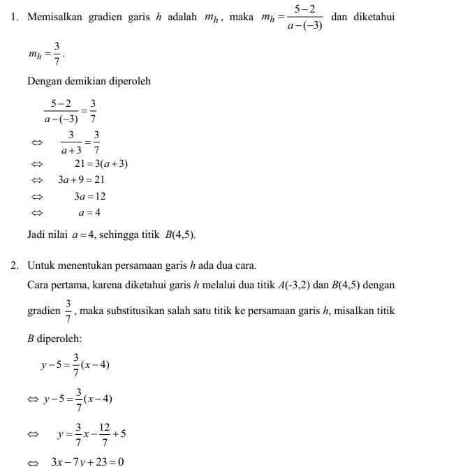 soal persamaan garis lurus no 16
