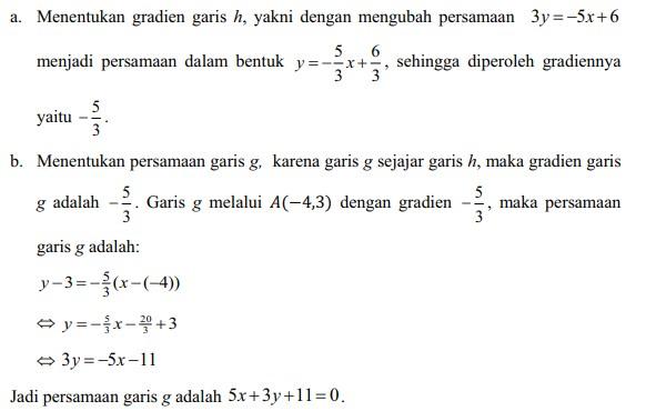 soal persamaan garis lurus no 21