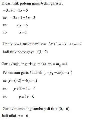 soal persamaan garis lurus no 22