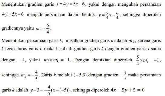 soal persamaan garis lurus no 23