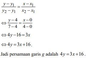 soal persamaan garis lurus no 24