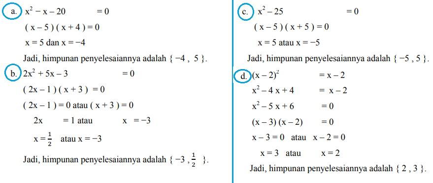 soal persamaan kuadrat nomor-1