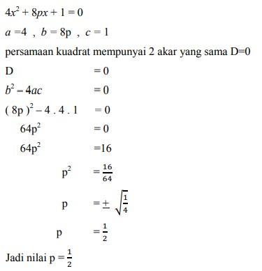 soal persamaan kuadrat nomor-5