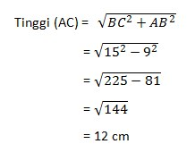 soal teorema phytagoras no 15