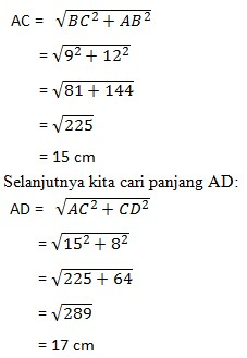 soal teorema phytagoras no 17-1