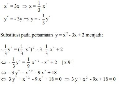 soal transformasi geometri dan jawaban no 10