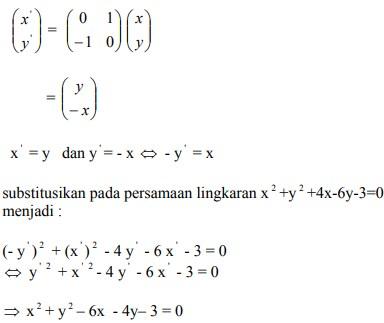 soal transformasi geometri dan jawaban no 3