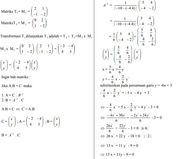 soal transformasi geometri dan jawaban no 6
