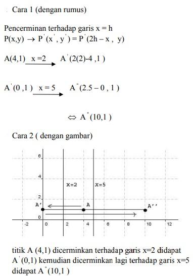 soal transformasi geometri dan jawaban no 7