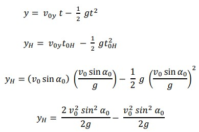 Untuk mencari koordinat titik tertinggi pada sumbu x adalah :